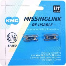 KMC MISSING LINK 7/8R EPT 7.3MM SILVER